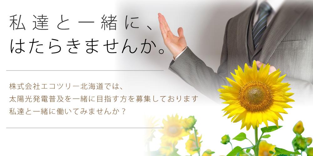 株式会社エコツリー北海道で、一緒に働きませんか